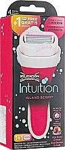 Парфумерія, косметика Станок + 2 змінних леза - Wilkinson Sword Intuition Island Berry