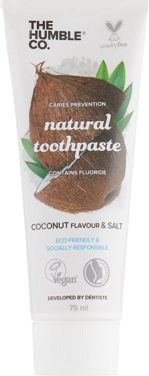 "Натуральная зубная паста ""Кокос"" - The Humble Co. Natural Toothpaste Coconut & Salt"