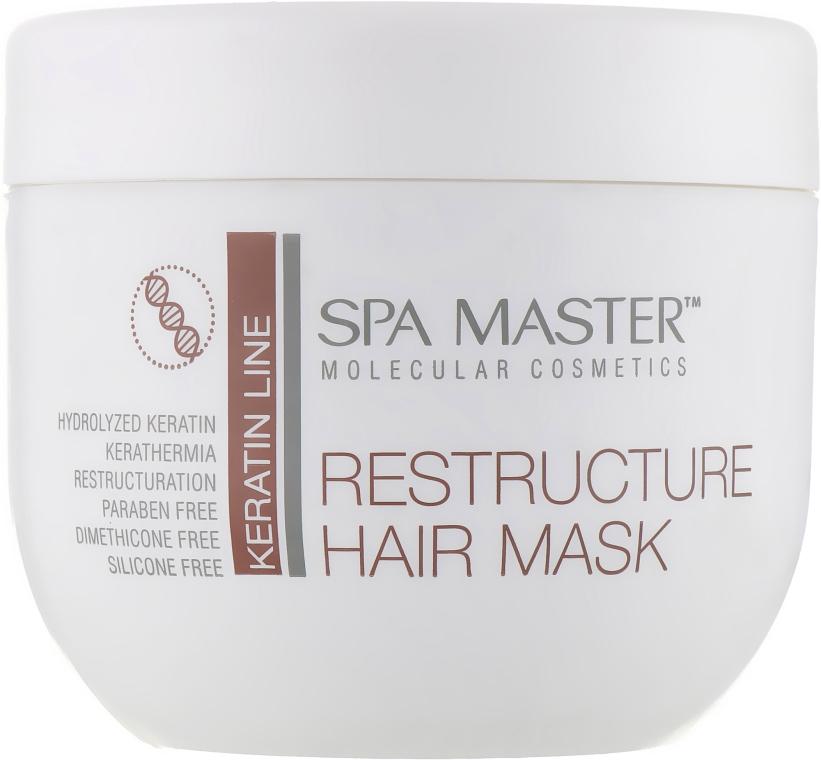 Реструктурирующая маска с кератином и кокосовым маслом - Spa Master Keratin Line