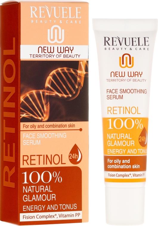 Сыворотка с ретинолом для лица - Revuele Retinol Face Smoothing Serum Moisturise Tone Hydrate Lift Firm Skin