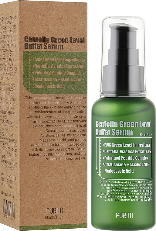 Сыворотка с экстрактом центеллы - Purito Centella Green Level Buffet Serum