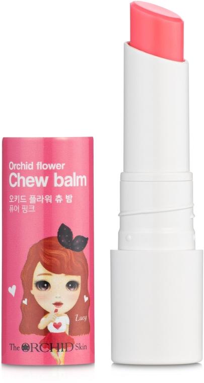 Увлажняющий бальзам для губ - The Orchid Skin Orchid Flower Chew Balm Pure Pink