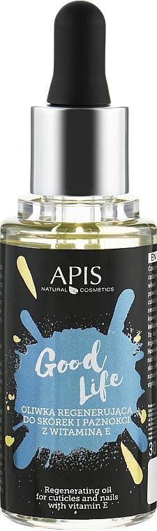 Масло для кутикулы и ногтей с витамином Е - APIS Professional Good Life Cuticles & Nails Regenerating Oil