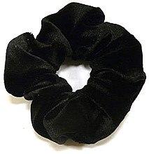 Духи, Парфюмерия, косметика Резинка для волос велюровая P1600, 11 см d-5,5 см, черная - Akcent