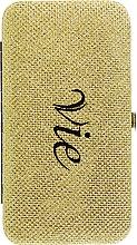 Духи, Парфюмерия, косметика Кейс для пинцетов для наращивания ресниц, золото - Vie De Luxe