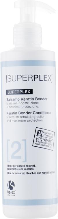 Кондиционер для окрашенных и обесцвеченных волос - Barex Italiana Superplex Conditioner Keratin Bonder