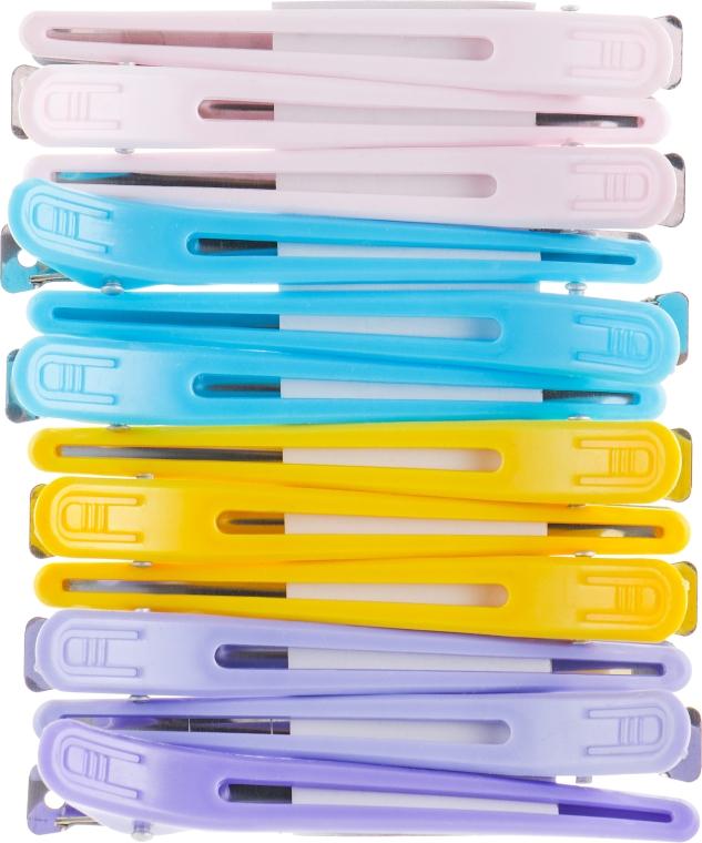 Зажимы пластиковые, 964089, разноцветные - SPL