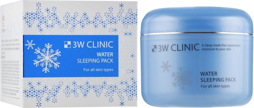 Увлажняющая ночная маска для сухой кожи лица - 3W Clinic Water Sleeping Pack