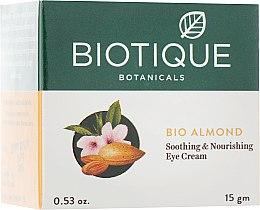 """Духи, Парфюмерия, косметика Успокаивающий и питательный ночной крем для глаз """"Био Миндаль"""" - Biotique Bio Almond Soothing & Nourishing Eye Cream"""