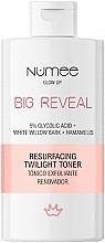 Духи, Парфюмерия, косметика Восстанавливающий тоник для лица - Numee Glow Up Big Reveal Resurfacing Twilight Toner