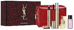 Духи, Парфюмерия, косметика Набор - Yves Saint Laurent Touche Eclat (mascara/7.5ml + demaquillant/8ml + lipstick/1.4ml + highl/2.5ml + pouch)