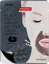 Духи, Парфюмерия, косметика Гидрогелевая питательная маска для зоны вокруг губ и носогубных складок - Purederm Black Food MG: Lip Zone Mask