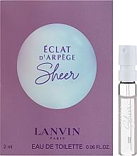 Духи, Парфюмерия, косметика Lanvin Eclat d'Arpege Sheer - Туалетная вода (пробник)