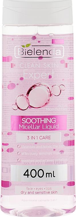 Успокаивающая мицеллярная жидкость 3в1 для умывания и снятия макияжа - Bielenda Expert Micellar