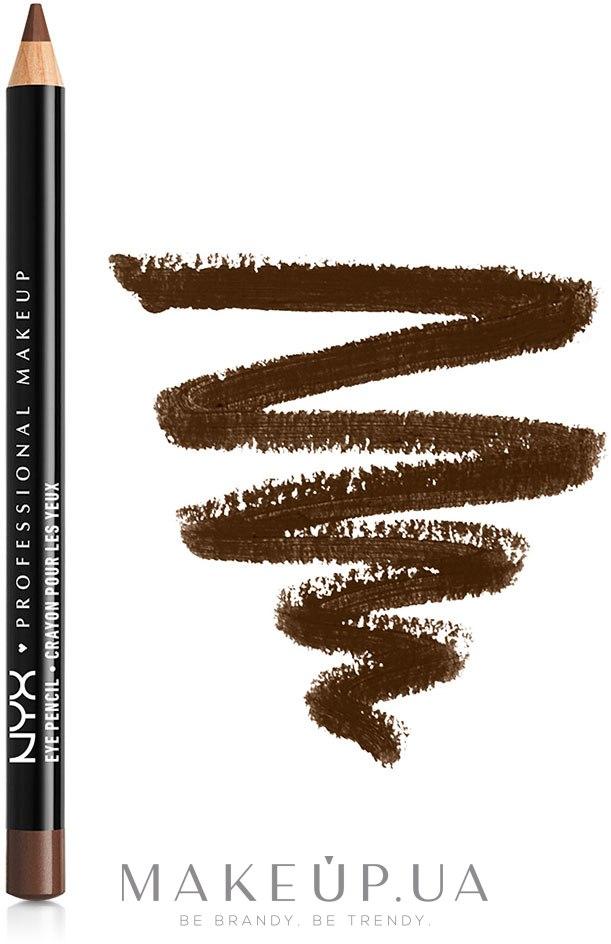 Карандаш для глаз - NYX Professional Makeup Slim Eye Pencil — фото 903 - Dark Brown