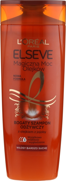 Питательный шампунь для волос - Loreal Elseve Nourishing Shampoo Magical Power Of Oils Jojoby Essential Oil