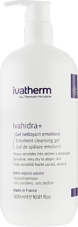 Очищающий гель для чувствительной, сухой и атопической кожи - Ivatherm Ivahidra+ Hydrating Cleansing Gel