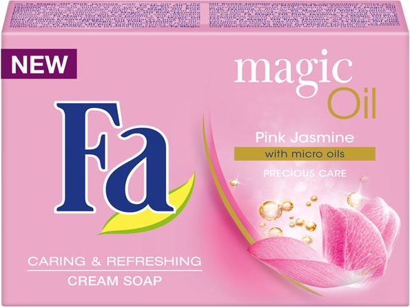 Крем-мило  - Fa Magic Oil Pink Jasmine Cream Soap — фото N1