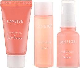 Парфумерія, косметика Набір мініатюр для чутливої шкіри - Laneige Fresh Calming 3 Kit (toner/25ml + serum/10ml + gel/15ml)