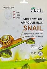 Духи, Парфюмерия, косметика Тканевая маска с экстрактом муцина улитки - Ekel Super Natural Ampoule Mask Snail