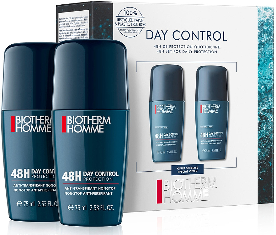 Набор - Biotherm Homme Day Control (deo/75ml + deo/75ml)