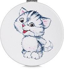 Духи, Парфюмерия, косметика Зеркало косметическое круглое, котенок - Lily Cosmetics
