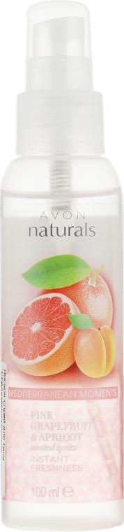 """Лосьон-спрей для тела """"Средиземноморские приключения"""" - Avon Naturals Body Spray Pink Grapefruit & Apricot"""