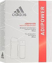 Парфумерія, косметика Набір - Adidas Adipower Men (deo/spray/150ml + sh/gel/250ml)