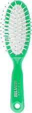 Духи, Парфюмерия, косметика Расческа массажная, маленькая, РМ-8683 G, зеленая - Silver Style