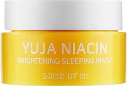Духи, Парфюмерия, косметика Ночная выравнивающая тон маска для лица - Some By Mi Yuja Niacin Brightening Sleeping (мини)