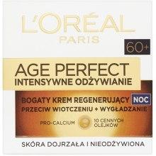 Духи, Парфюмерия, косметика Ночной крем для лица - L'Oreal Paris Age Perfect Intense Nutrition Rich Cream 60+ Night Cream