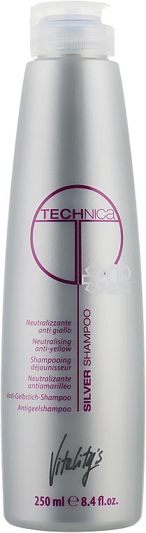 Шампунь для нейтрализации желтизны - Vitality's Technica Silver Shampoo
