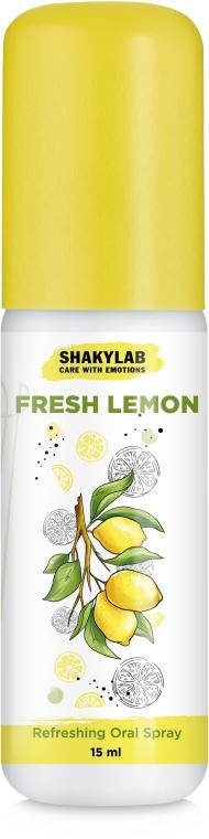 "Спрей освежающий для полости рта ""Lemon"" - SHAKYLAB Refreshing Oral Spray"