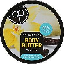 Духи, Парфюмерия, косметика Восстанавливающее масло для тела с экстрактом ванили - Cosmepick Body Butter Vanilla