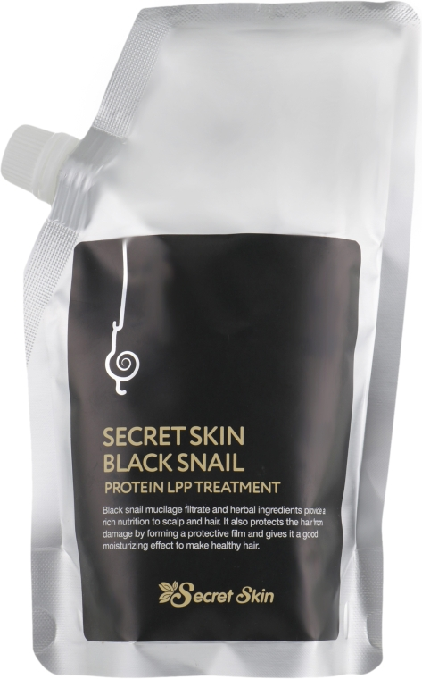 Маска для волос с муцином черной улитки с эффектом ламинирования - Secret Skin Black Snail Protein LPP Treatment — фото N1