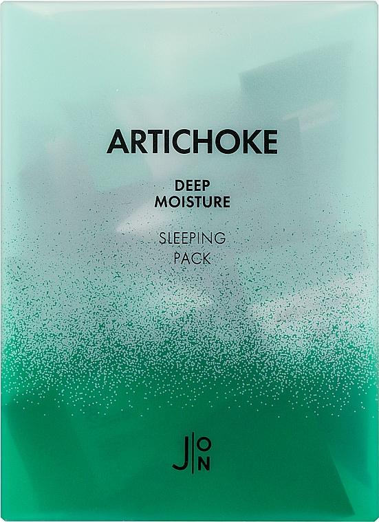 Ночная увлажняющая маска для лица с артишоком - J:ON Artichoke Deep Moisture Sleeping Pack (мини)