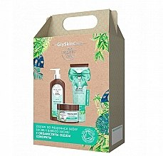 Духи, Парфюмерия, косметика Набор - GlySkinCare Organic Hemp Seed Oil (b/lot/250ml + sh/gel/250ml + b/scrub/400g)