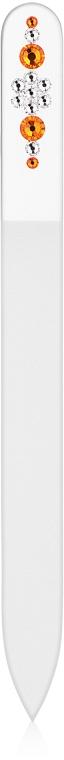 """Пилочка """"Lactea Orange"""", стекло прозрачное, 13.5 см, Swarovski Elements - Elenpipe"""