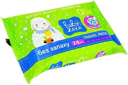 """Влажные салфетки """"Без запаха"""" - Baby Zaya"""