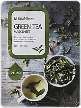 Духи, Парфюмерия, косметика Тканевая маска с зеленым чаем - Seantree Mask Sheet Green Tea