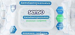 Духи, Парфюмерия, косметика Антибактериальные влажные салфетки, 72 шт - Senso