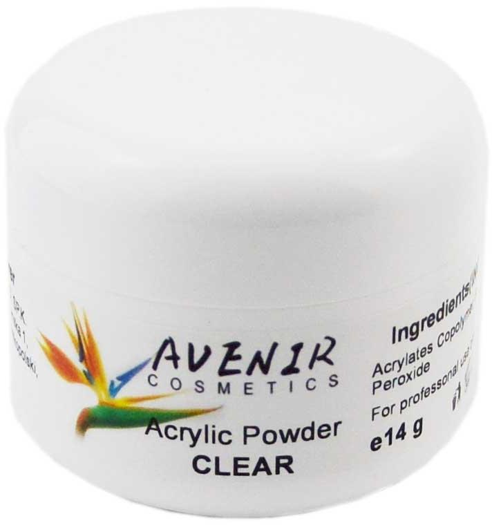 Акриловая пудра для ногтей, прозрачная - Avenir Cosmetics