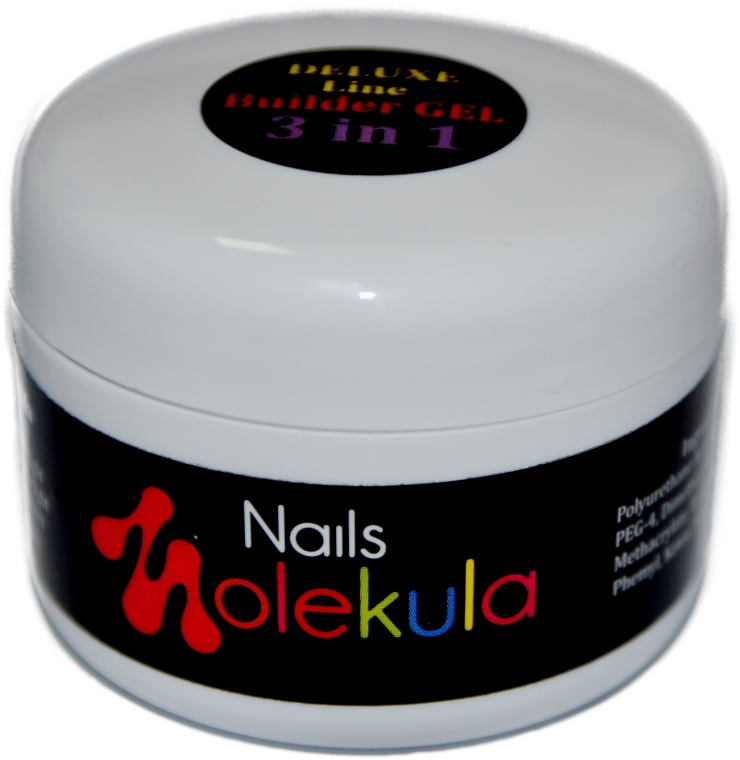Однофазный гель для ногтей - Nails Molekula Bulider Gel 3 In 1