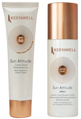 Набор - Keenwell Facial Cream SPF 50 & Fluid Emulsion After Sun (cr/60ml + emulsion/150ml)
