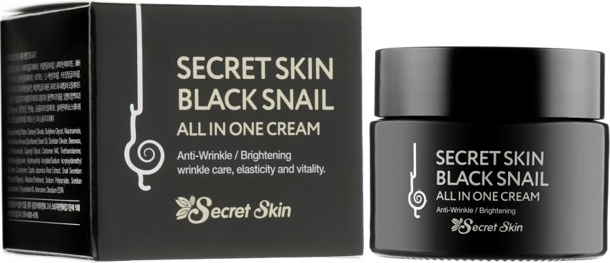 Крем для лица с муцином черной улитки - Secret Skin Black Snail All In One Cream