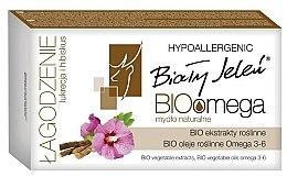 Духи, Парфюмерия, косметика Гипоаллергенное мыло с лакрицей и гибискусом - Bialy Jelen BIOomega Soap Liquorice And Hibiscus
