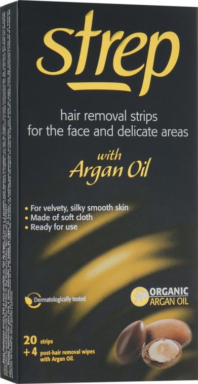 """Восковые полоски для лица и линии бикини """"Аргановое масло"""" - Strep Argan Oil"""