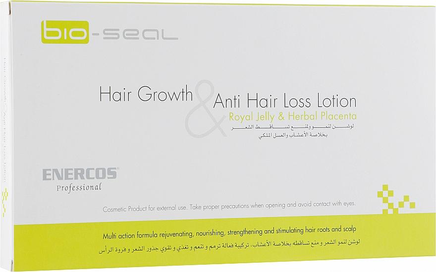 Лечебные ампулы против выпадения и для роста волос - Enercos Professional Bio Seal Hair Growth & Anti Hair Loss Lotion