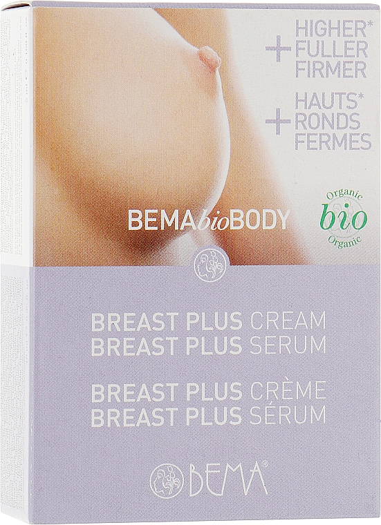 Набор для увеличения объема грудей «Бюст Плюс» - Bema Cosmetici BemaBioBody (serum/5ml + cr/10ml)