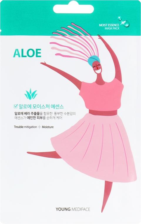 Увлажняющая маска для лица с Алоэ - Mediface Young Aloe Mask Pack